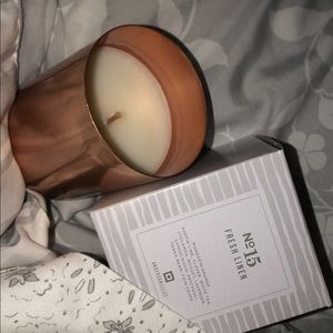 Fresh Linen scented coconut wax candle